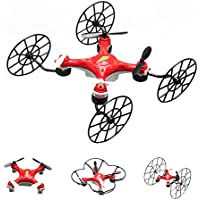 Autek Mini 4 in 1 Q5 Quadcopter Drone RC Helicopter Quad Copter Toy 3D Flip 6 Axis Gyro 2.4G A Red