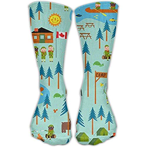 Boy Scouts Camp Turtle Fashion Warm Winter Socks Cotton Crew Socks One Size For Women And Men(30cm)