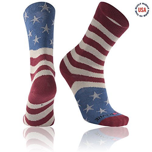 Flag Socks, Ristake Stars & Stripes American Flag Athletic Crew Patriotic Mismatch Socks
