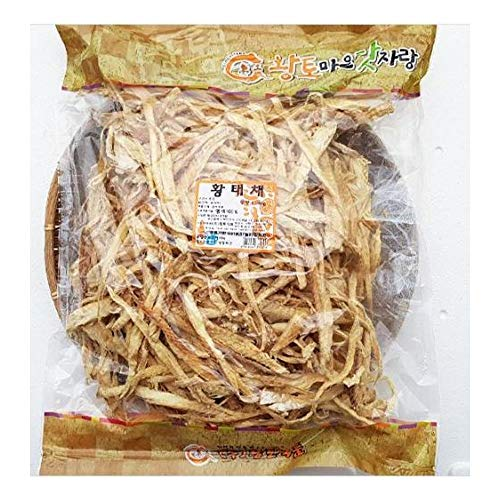 Hwangto Maeul Sliced Frozed-Dried Pollack 1kg (Pack of 15) 황태채 by Hwangto Maeul (Image #1)