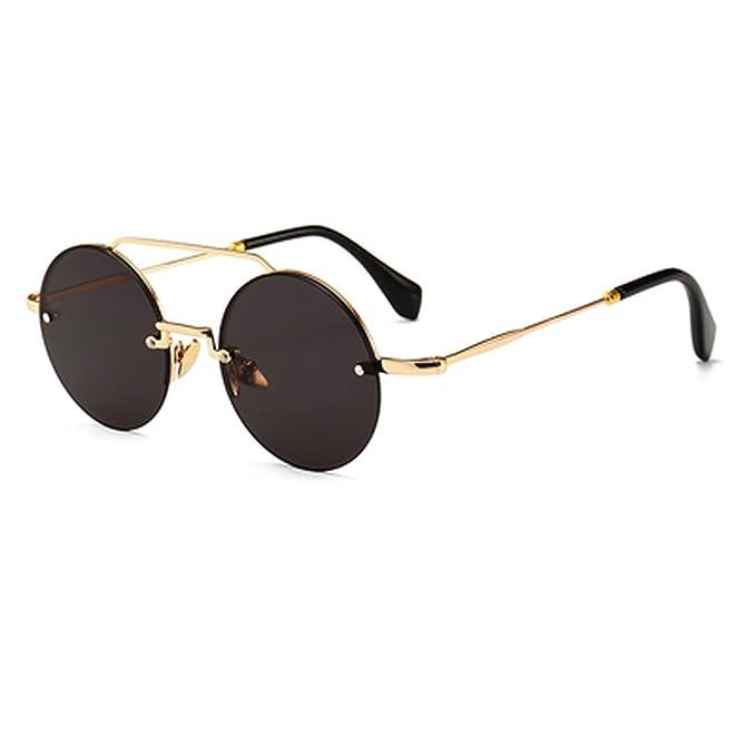 Amazon.com: Vintage anteojos de sol redondas mujeres hombres ...