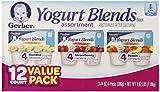 Gerber Yogurt Blends Assortment Snacks, 12 Count, Net Wt. 2.62 lb