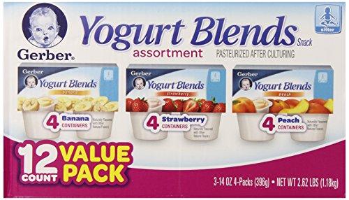 Gerber Йогурт Смеси Ассортимент закуски, 2,62 фунта