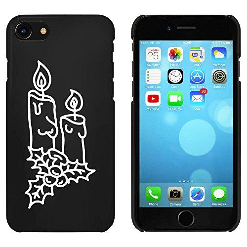 Noir 'Bougies de Noël' étui / housse pour iPhone 7 (MC00087972)