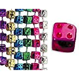 Bunco Dice Mardi Gras Bead Necklaces