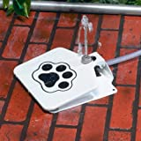 Automatic Pet Dog Outdoor Water Fountain Doggie Paw Pattern Sprinkler Dispenser