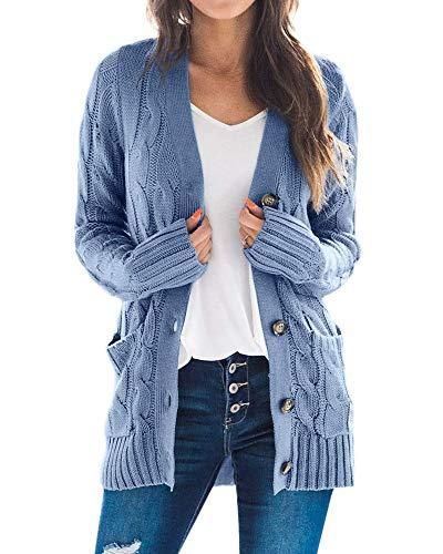 GK Women Casual Long Sleeve Sweater Coat Knitwear Open Front Tops Loose Cardigan