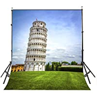 Lyly County Italy Background for Photography 5×7ft Polyester Pizza Tower Photo Backdrops Studio Props(Upgrade material)LY003