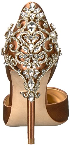 Badgley Mischka Womens Karma Pump Dark Nude
