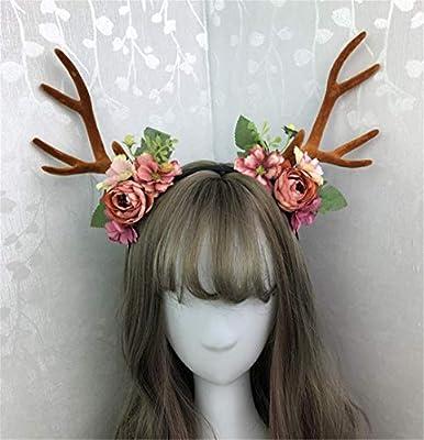 Diadema para disfraz de Halloween con diseño de rama de ciervos ...