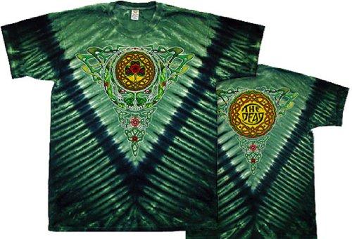 [Tie Dyed Shop Grateful Dead Celtic Knot Tie Dye T-Shirt-Large-Multicolor] (Grateful Dead Celtic Knot)
