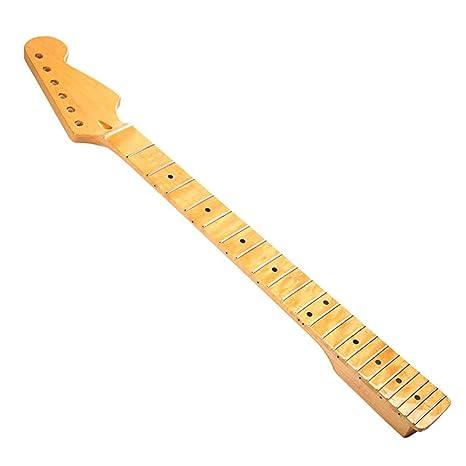Diapasón de diapasón de cuello de reemplazo de madera de arce Qewmsg para guitarra eléctrica ST