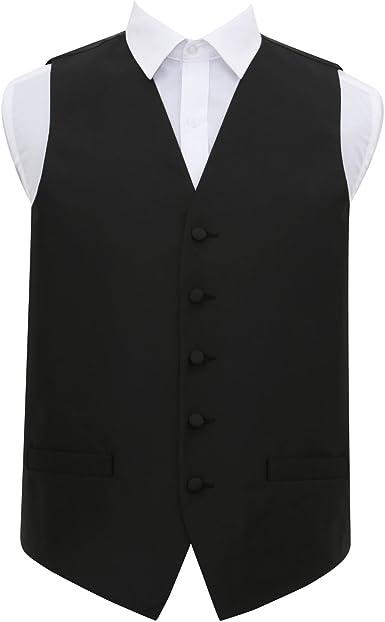DQT Satin Plain Solid White Formal Tuxedo Mens Wedding Waistcoat S-5XL