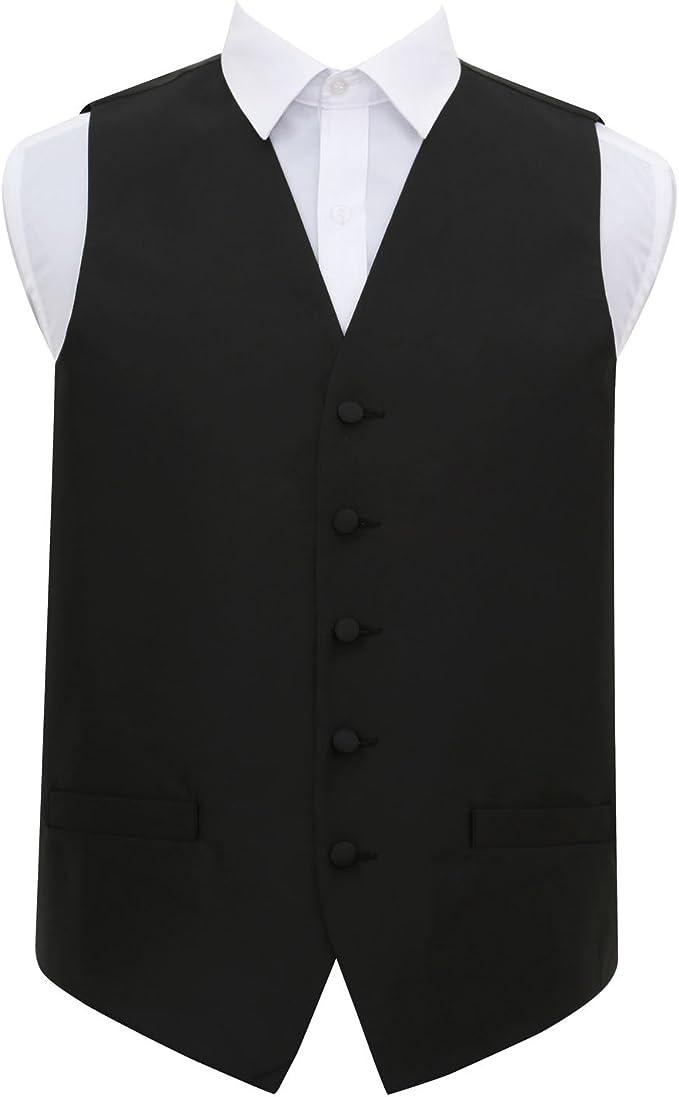 DQT Boys Solid Check Plain Wedding Tuxedo Waistcoat