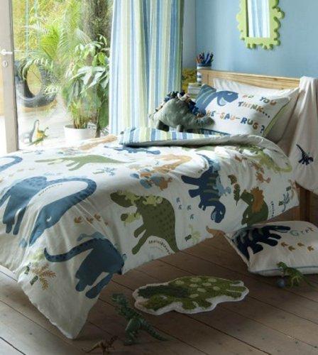 Beau Dino Dinosaur Kids Single Duvet Cover Bedding Set LANSFIELD