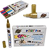 South Bay Board Co. 12 Premium Outdoor Paint Pens - Water & Weather Resistant Paint Markers - Write on Anything from Surfboard to Rocks!