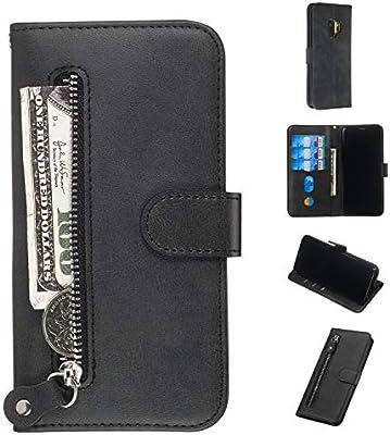 Compatibles para Samsung Galaxy S9 Funda WIWJ Libro PU Cuero ...