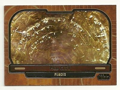 Sapphire Foil Gold - Topps Star Wars Galactic Files 2 GOLD Foil #647 Pau City Serial #10 of 10