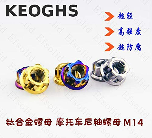 Keoghs Motorcycle Wheel Axle Nut/screw Tc4 Titanium M14 M12 M10 For Honda Yamaha Kawasaki Suzuki Ducati Bmw Aprilia ()