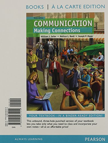 Communication: Making Connections, Books a la Carte Plus NEW MyCommunicationLab with eText -- Access Card Package (9th E
