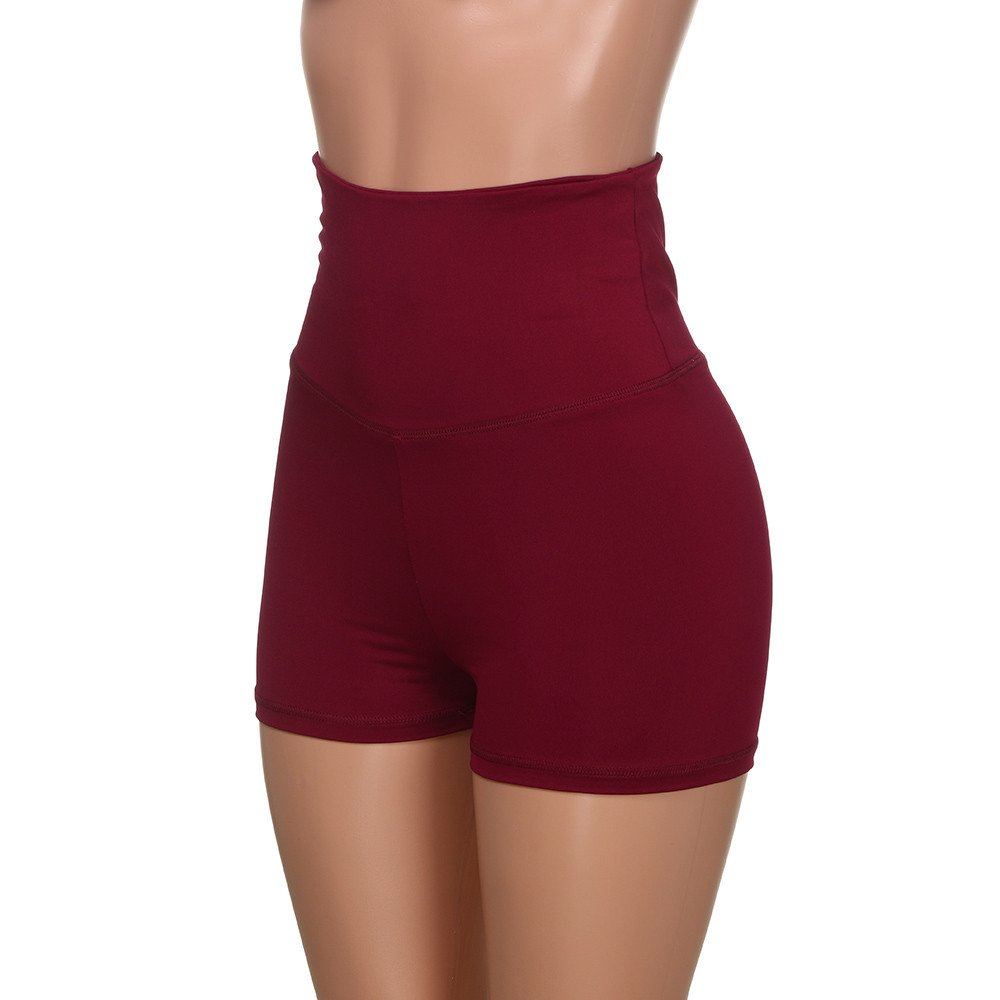 Women High Waist Skinny Shorts Trouser Pants Summer Soft Outwear Loose Leisure Shorts Casual Yoga Pants