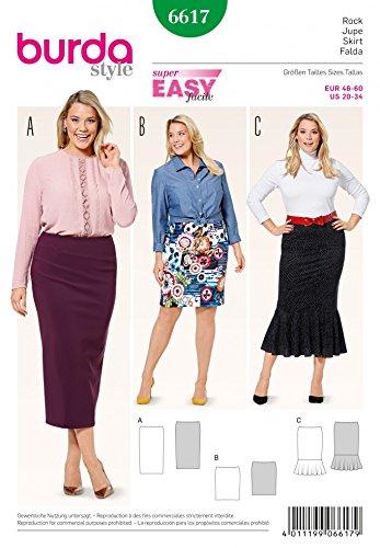 Amazon Burda Ladies Plus Size Easy Sewing Pattern 6617 Jersey