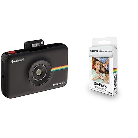 20b4cc0afa547 Polaroid SNAP Touch - Cámara digital con impresión instantánea y pantalla  LCD (negro) con tecnología Zero Zink + Polaroid M230  Amazon.es  Electrónica