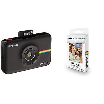 7c40020c8232b Polaroid SNAP Touch - Cámara digital con impresión instantánea y pantalla  LCD (negro) con tecnología Zero Zink + Polaroid M230  Amazon.es  Electrónica