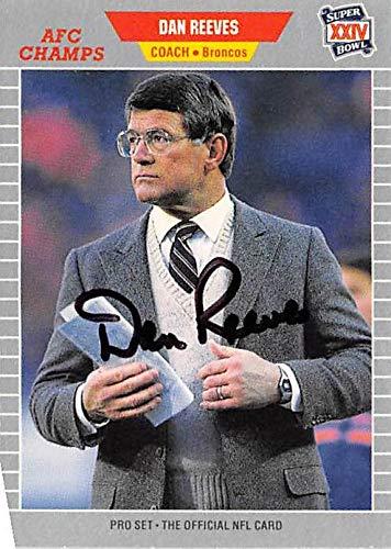 Dan Reeves autographed Football Card (Denver Broncos) 1989 Pro Set Super Bowl XXIV #114