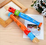 USHOT Dress Up & Pretend Play Toys, Colorful Wooden Trumpet Buglet Hooter Bugle Educational Toy Gift Kids
