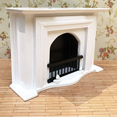 Brosco Dollhouse Wooden 1:12 Scale Fireplace Miniature Furniture Room Decoration from Brosco