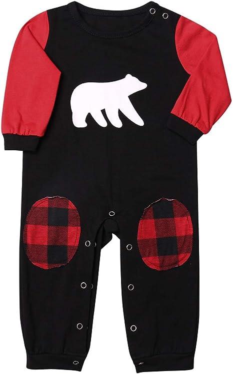 HUAZONG Conjunto de pijama a juego para familia de Navidad ...