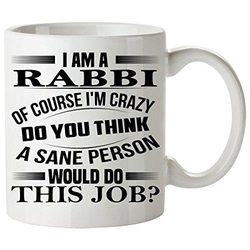 [RABBI Mug 11 Oz - RABBI Gifts - Unique Coffee Mug, Coffee Cup #02] (Dog Rabbi Costume)