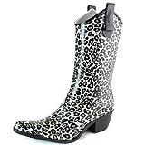 Women's DailyShoes Cowboy Plaid Prints High Heel Rain Boots
