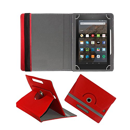 Fastway 360 Degree Rotating Tablet Book Cover for Amazon Fire HD 10  2017   Red
