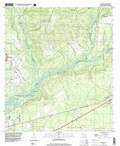 YellowMaps Harold FL topo map, 1:24000 Scale, 7.5 X 7.5 Minute, Historical, 1994, Updated 1999, 26.9 x 22 in - Paper
