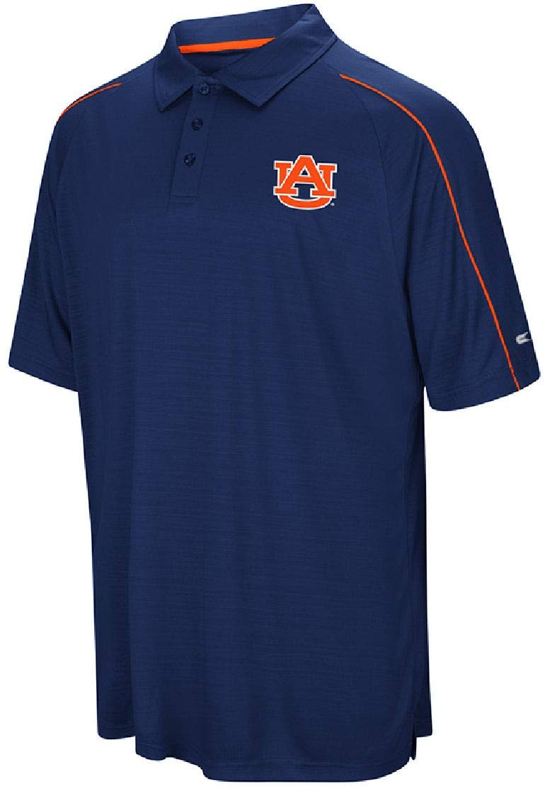 Auburn Tigers Mens Blue Touchback Polyester Polo Shirt