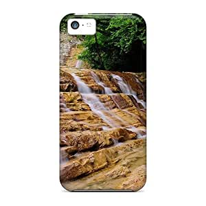 Fashionable Style Case Cover Skin For Iphone 5c- Fantastic Waterfall Over Rock Steps