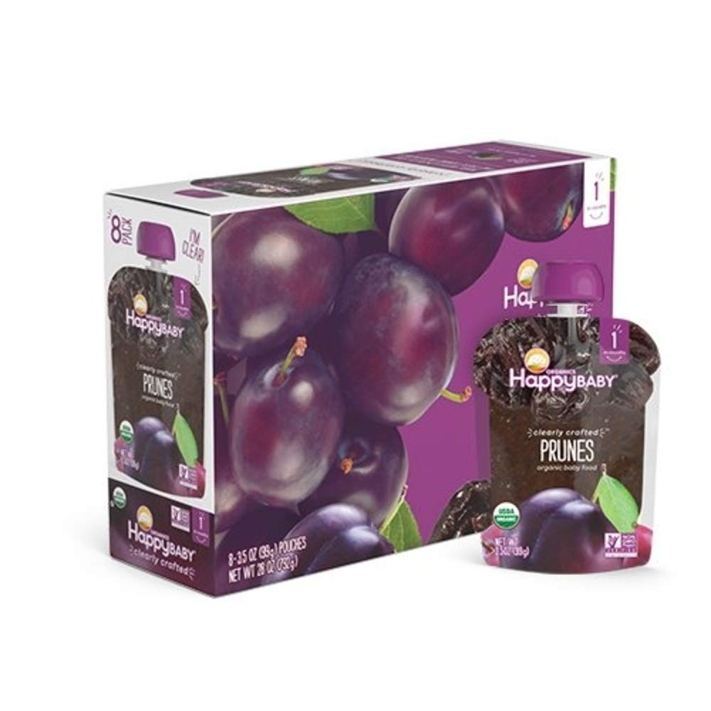 Happy Baby Organic Clearly Crafted Stage 1 Baby Food 1 Prunes 3.5 Ounce (Pack of 8)