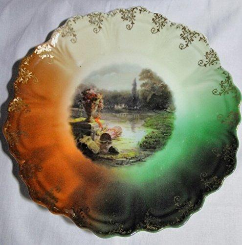 Vintage Bavarian Porcelain Scenic Plate