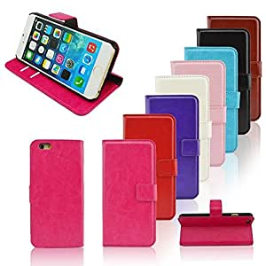 Premium Wallet Flip Leather Case With Stand Photo Frame Card For Apple iPhone 6 Cases I6 Phone Bags Covers --- Color:Rose