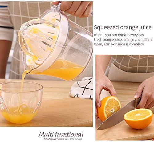 ZR&YW Manual De Fruta Exprimidor - Limón Naranja Lima Exprimidor Prensa De La Mano, Compacto De Peso Ligero, Ideal Todos Los Cítricos Gran, Blanco
