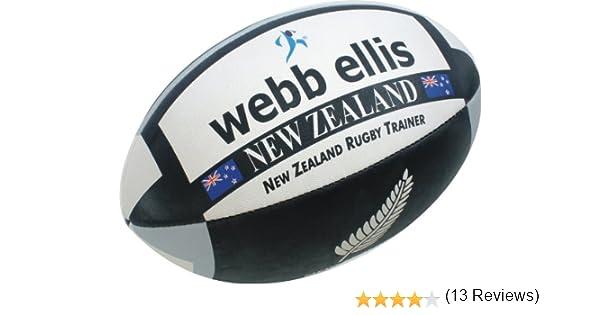 Webb Ellis New Zealand - Balón de Rugby para Hombre Multicolor Negro/Gris Talla:Size 5: Amazon.es: Deportes y aire libre
