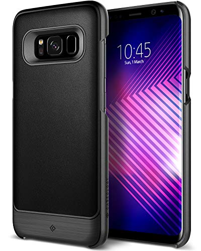 Caseology [Fairmont Series] Galaxy S8 Plus Case - [Premium Leather] - Black