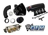 302 engine intake - CFM Performance Twin 67mm Throttle Body & Ford Racing Cobra Jet Intake Manifold & Cold Air Intake 2011-2014 Mustang GT / Boss 302 (M-9424-M50CJ 4-1060-P M-9603-M50CJ)