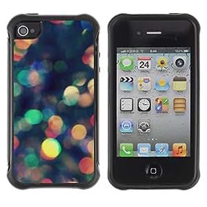 Suave TPU GEL Carcasa Funda Silicona Blando Estuche Caso de protección (para) Apple Iphone 4 / 4S / CECELL Phone case / / Colorful Lights Reflection Scatter /