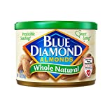 Blue Diamond Gluten Free Almonds, Whole Natural, 6 Ounce (Pack of 12)