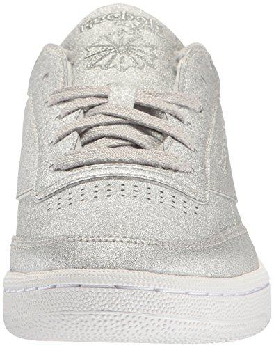 White c Diamond Snow Metallic Silver Women Snow White 85 Grey Syn Grey Reebok Diamond Sneaker silver Fashion Metallic Club 07nxHwaB
