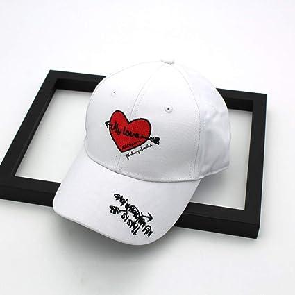 zhuzhuwen Sombrero Versión Coreana del Amor Simple Bordado ...