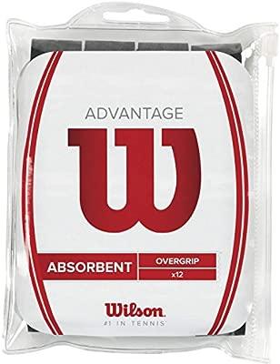 Wilson Advantage Overgrip Empuñadura, 12 unidades, unisex, negro